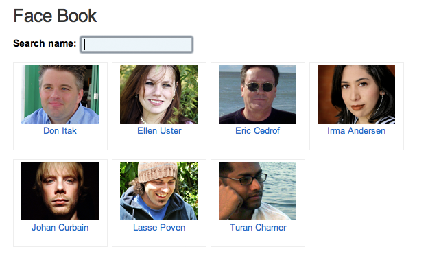 Example of face book page