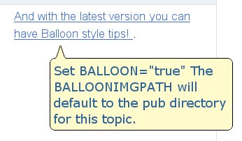 Example of balloon tip