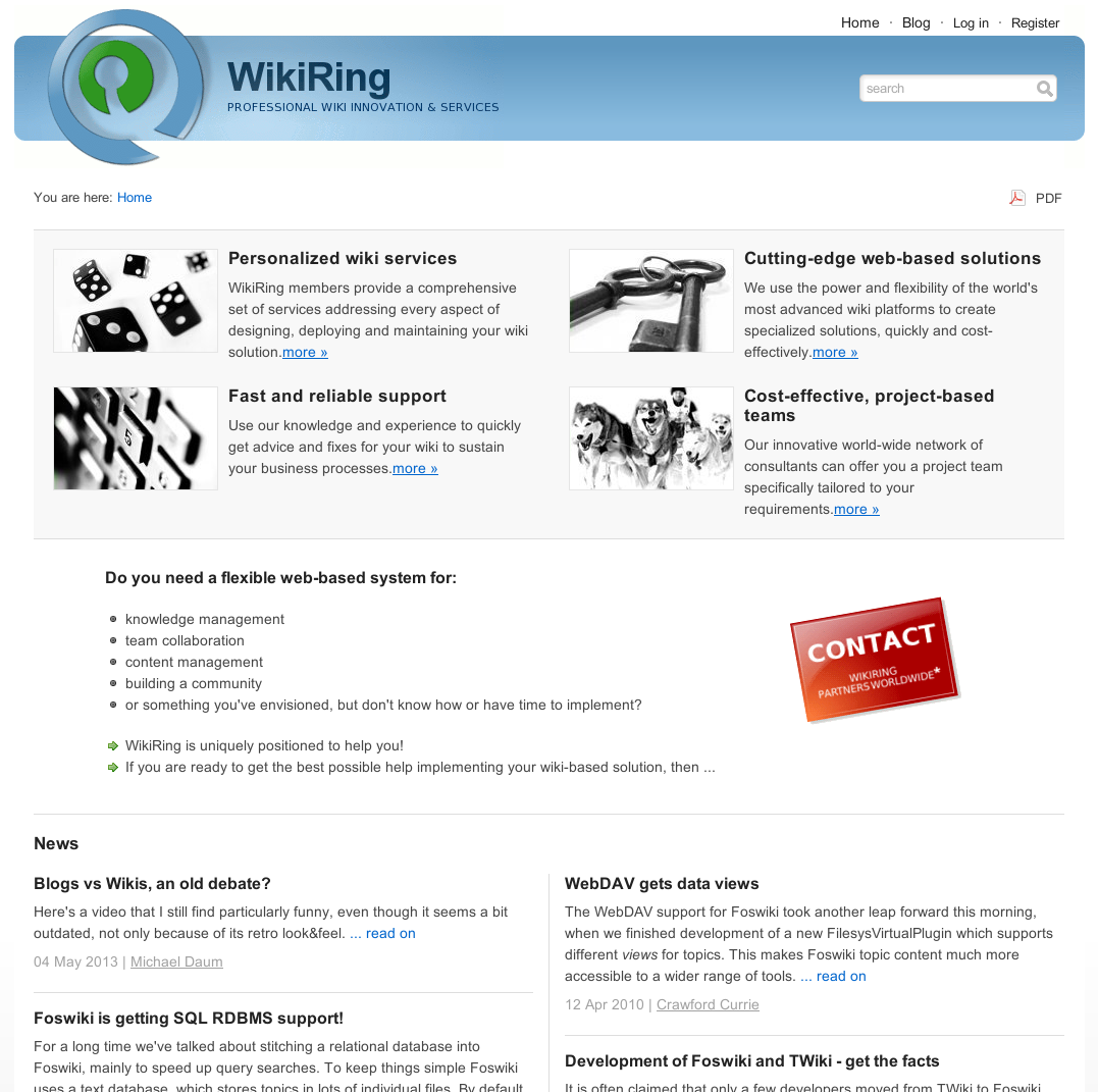 ExampleSites < About < Foswiki