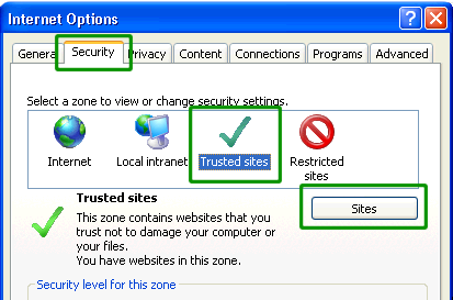 how to add a trusted site to firefox